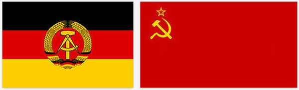 ФЛАГИ Советского Союза и Германской Демократической Республики