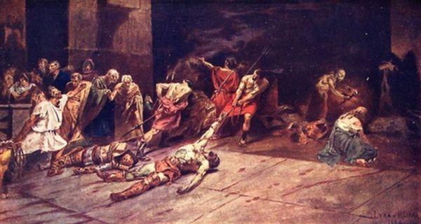 Гладиаторские бои были придуманы не римлянами, но именно у них это кровавое зрелище стало популярно не только, как языческий ритуал.