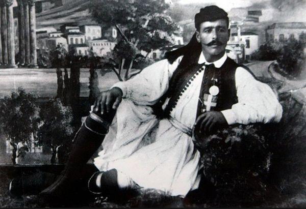 Греческий спортсмен Спиридон Луис — победитель первого олимпийского марафона